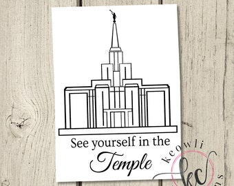See Yourself in the Temple Vinyl Decal