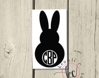 Bunny Monogram Vinyl Decal