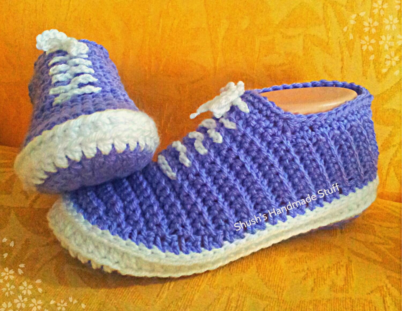 Free Crochet Pattern Tennis Shoes : Crochet Sneakers pattern in English only