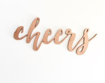 Wood 'cheers' Sign, Party, Home Decor.