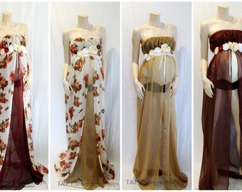 Rose Fawn Gown Only~~ Chiffon Maternity Gown
