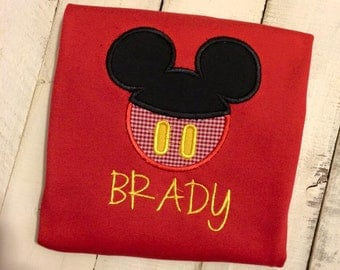 Classic Mickey Mouse Applique / Disney World /