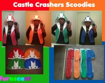 CASTLE CRASHERS SCOODIES!!! scarf hoodie ((single or all 4))