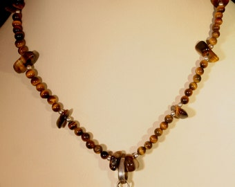 Tiger Eye Necklace # 515