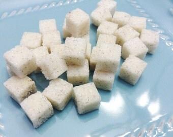 Vanilla Bean Sugar Cubes (120+) Madagascar Bourbon Vanilla Beans Tea Beverage Sweetener