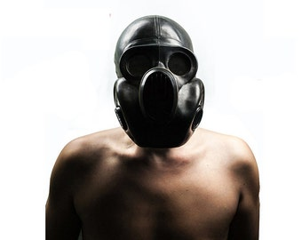 """Black Gas mask PBF-EO19 Scary mask  also called """"Gorilla"""" mask. Steampunk."""