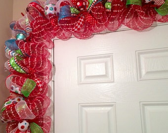 Whimsical Christmas Garland - Christmas Door Garland - Christmas Garland - Christmas Mantel Decor - Deluxe Christmas Garland