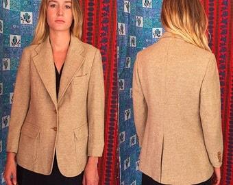 Tweed Wool Jacket Wool Blazer 70s Evan PICONE Tailored Blazer