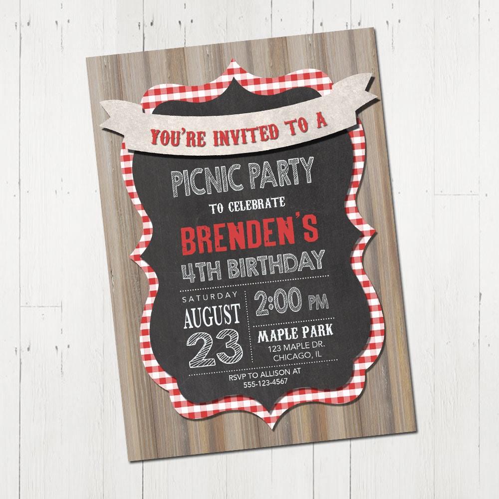 Picnic invitation – Picnic Party Invitations