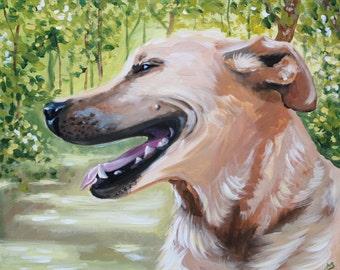 CUSTOM PET PORTRAIT- Fine Art Acrylic on Canvas