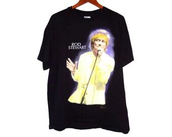 Vintage 1993 Rod Stewart Tour Shirt - XL - Backstage Pass Tee - Tour Tees -