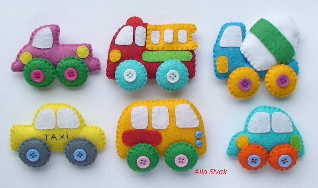Magnetic Toys For Boys : Techics felt magnets for kids cars toys car baby boy