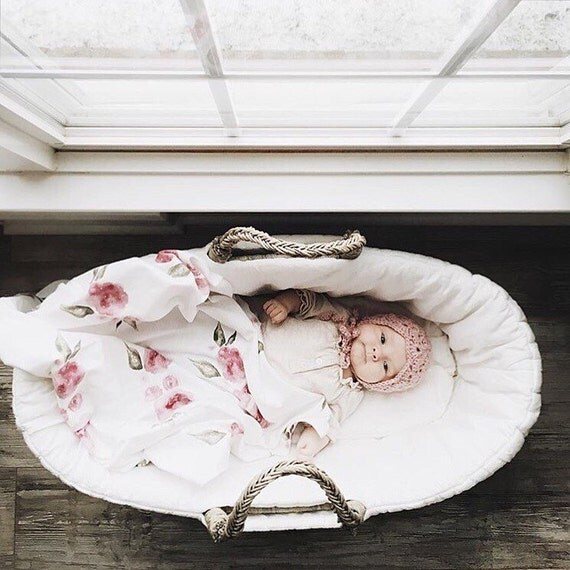 Baby Swaddle Blanket - Watercolor Floral Swaddle | the Kate | Exclusive print to Finn & Olive