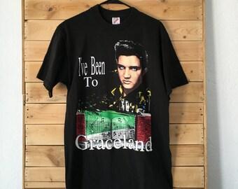 Vintage Elvis Presley Shirt // Graceland Shirt // Graceland, Tennessee Shirt