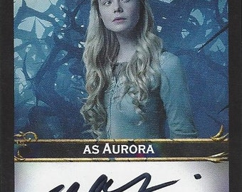 Maleficent Actress as Aurora Elle Fanning AUTOGRAPHED Custom Trading Card