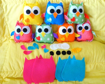Plush felt baby owls - buy the kit and make yourself (diy) or buy the owl ready made - Which will you choose?