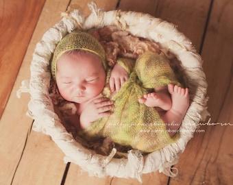 spring mohair wrap/blanket and FREE bonnet set !!! newborn photo prop