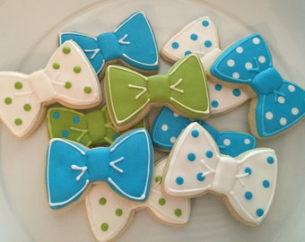 1 DOZEN Bow Tie Sugar Cookies