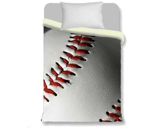 Baseball Duvet Cover-Baseball Bedding-Sports Duvet Cover-Boy/Girl Bedroom Decor-Twin 68x68-Full 79x79-Queen 88x88-King 88x104-Athletic Decor
