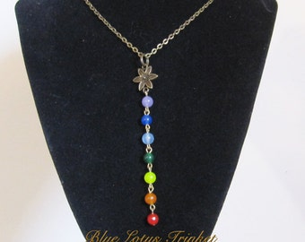 7 Chakra Necklace. Yoga Necklace. Chakra Jewelry. Yoga Jewelry. Gemstone Jewelry. Chakra Healing. Made in Canada.