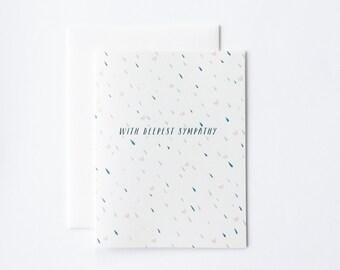 Sympathy Card, Sympathy Rain Card