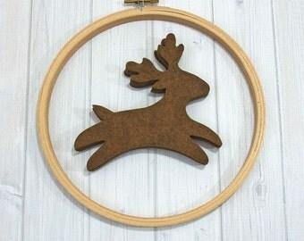 Felt Reindeer, 8 pieces - Wool Blend Felt - Die Cut Shapes