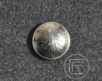 Vintage Coin Handmade Button cap with screw Coin no.02