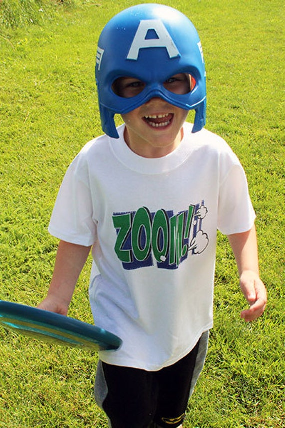 Zoom Action Word Bubble T-Shirts for the Whole Family