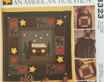 McCall's Crafts 3323 An American Tradition Quilt, Apron, Pillows, Tote and Placemat Sewing Pattern