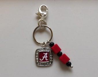 University of Alabama Purse Charm, Alabama Purse Charm, Bama Purse Charm, Roll Tide Purse Charm, Crimson Tide Purse Charm