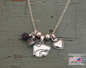 Kansas State Wildcats Memory Necklace
