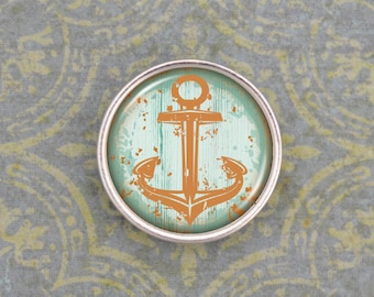 Teal and Orange Anchor Snap - 24045