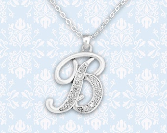 B Initial Necklace - 54208