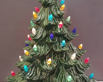 Vintage Style Ceramic Christmas Tree Ceramic Tree 17 Tall Large Tree Ceramic