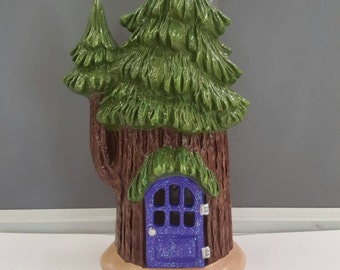 Ceramic Fairy House - Fairy Garden - Fairy Dwelling - Ceramic House - Garden Ornament - Gnome Home - Ceramic Fairy - Gnome  House