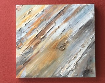 Original abstract painting on wood