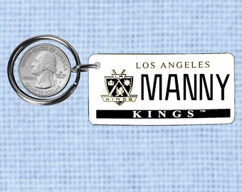Personalized Los Angeles Kings keychain - key ring