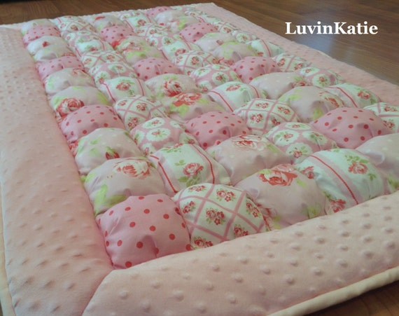 Items similar to baby floor time mat bubble quilt puff for Floor quilt for babies