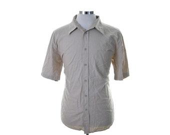 Wrangler Mens Shirt XL Beige Cotton