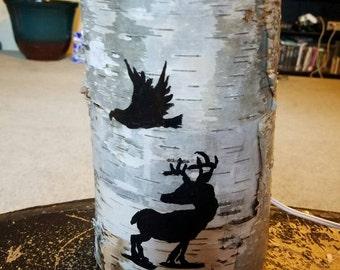 Birch Bark Table Lamp