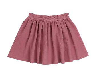 Womens (XS-XXXL) High Waist Skirt. Mauve. Mini, Knee Length, Maxi. Antique Rose. Pink. 36 Colors. Mommy and Me. Daughter. Spring Summer