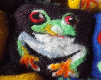Hand Felted Soap with Frog