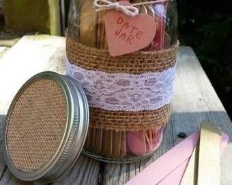 Large Date Night Jar with Blank Sticks