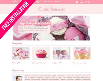 WordPress Ecommerce – Sweet Nothinngs – WooCommerce – Pink, White, Grey – Mobile Responsive – WordPress Template – ecommerce website design