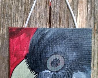 Mini Acrylic Painting of a Bird Eye