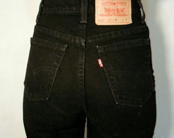 LEVI'S HIGH WAIST Vintage Jeans Black Denim Wash Gift Womens 2 3 4 5 6 7 8 9 10 11 24 25 26 27 28 29 30 31 32 33 34 35 36 Authentic Slim Fit
