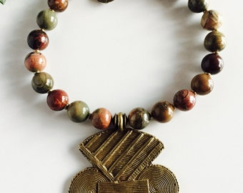 Africa Inspired Jasper Statement Necklace