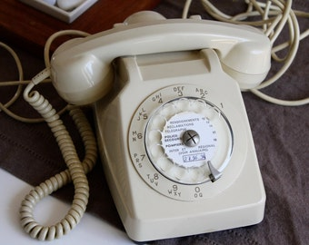 french phone from ptt, vintage, 70s/80s