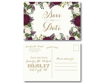 PRINTABLE Save the Date Postcard, Printable Save the Date, Wedding Save the Date, Save-the-Date, Wedding Postcard, Save our Date #CL123