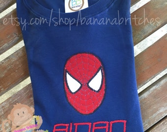 Boy's SpiderMan Applique Shirt (Long or Short Sleeve)
